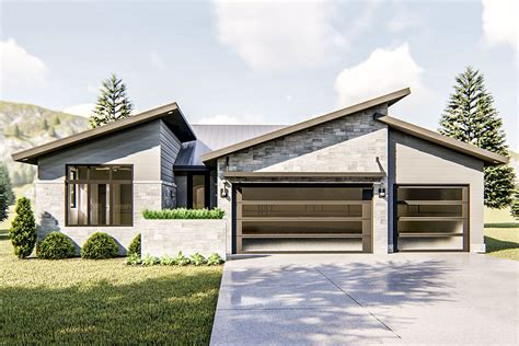 bed modern ranch house plan dj architectural designs house plans