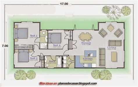 plano de casa rectangular de      casa pinterest
