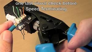 How To Use The Cat 6  U0026 39 Speed Termination Tool U0026 39