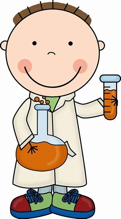 Science Scientist Clipart Clip Doodles Stick Transparent