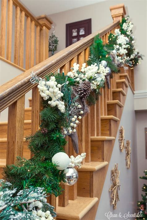 hang  garland   stairs clean  scentsible