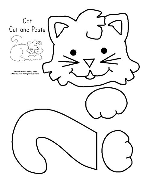 Cut And Paste Activities Worksheets Sketch Coloring Page