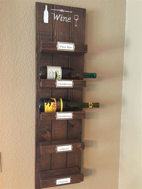 diy wood wine rack modified  shanty  chic plans