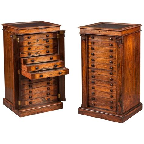 coin cabinets for sale pair of english collectors specimen cabinets with