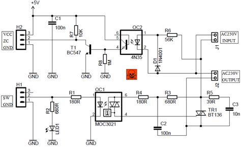Light Dimmer Module Circuit With Detector