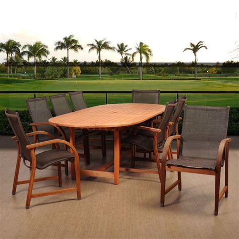amazonia arizona square 9 eucalyptus patio dining
