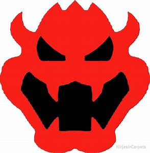 """Super Mario Bowser Icon"" Stickers by NinjasInCarpets"
