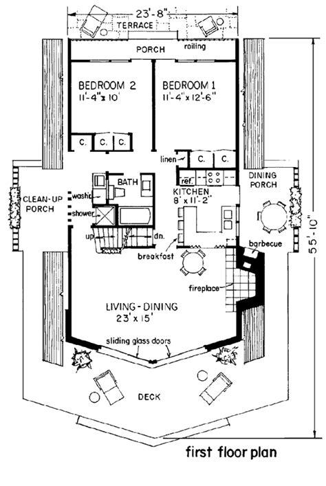 a frame cabin floor plans house plan 43048 at familyhomeplans com