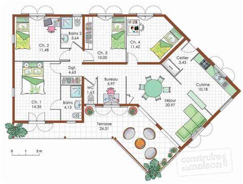 Plan Maison En V Avec Etage Plan Maison En V Avec Etage Individuelle 3 Chambres 48