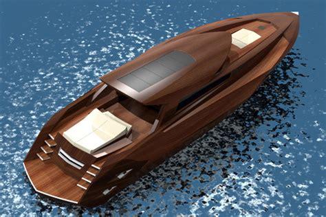 wooden yacht concept boat design net