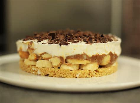 crepes hervé cuisine recette facile de la banoffee pie ou tarte banane caramel