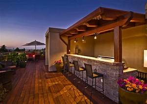 idee amenagement exterieur deco de la terrasse en bois With idee amenagement terrasse bois
