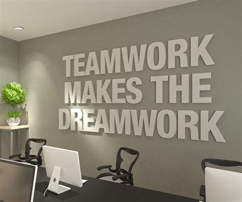 teamwork   dreamwork  office decor