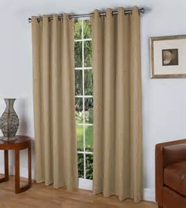 ricardo steps grommet top curtain panel beige