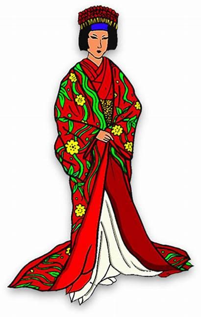 Kimono Japanese Woman Clipart Robe Young Transparent