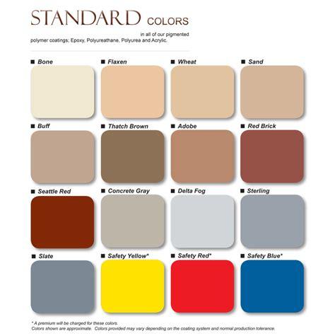 color standards standard colors color chart