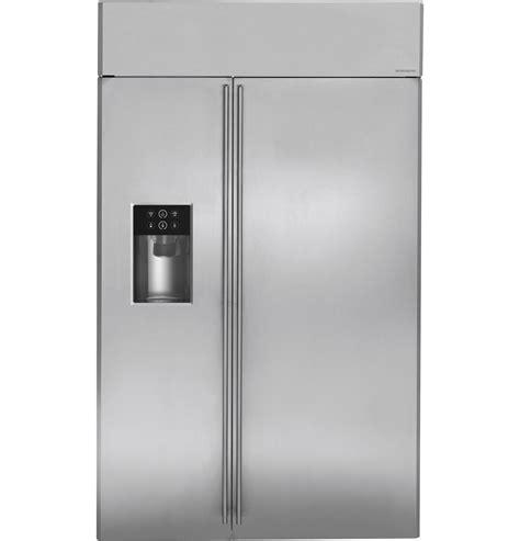 monogram  built  side  side refrigerator  dispenser zissdhss ge appliances