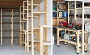 Etabli D Atelier Pas Cher : diy garage tag re et tabli sur mesure ~ Melissatoandfro.com Idées de Décoration