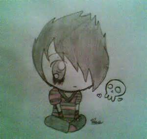 Emo Anime Chibi Drawing