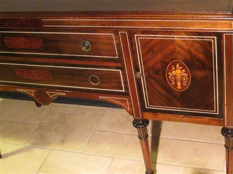 Federal Sideboard by Federal Mahogany Sideboard Inlaid Ebonized Lines Fruit