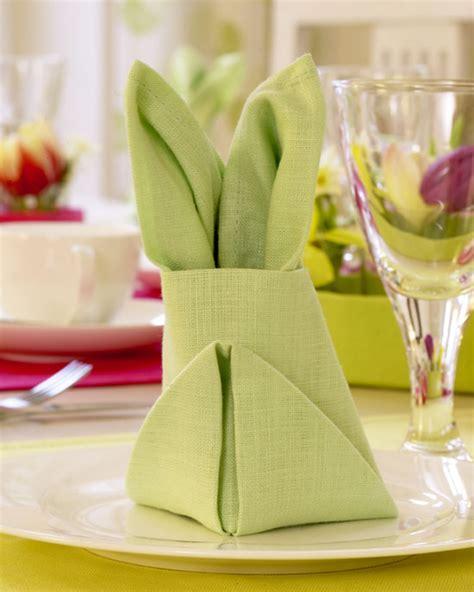 osterhasen falten servietten servietten osterhase falten so geht s lecker de