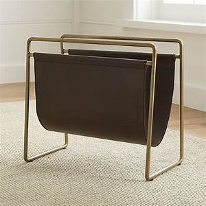 Galen Leather Magazine Rack Crate and Barrel