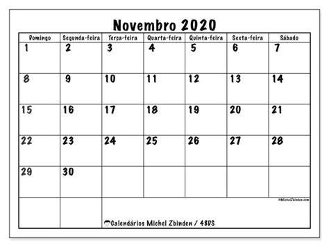 calendario novembro ds michel zbinden pt