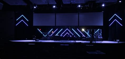 led   spirit church stage design ideas