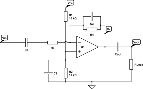 Operational Amplifier Inverting Amp Frequency