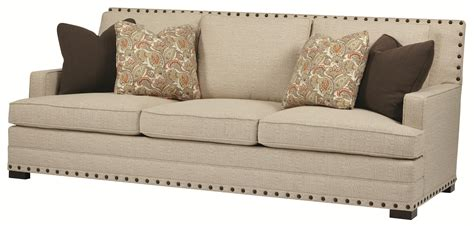 cantor sofa  nail head trim   set arms