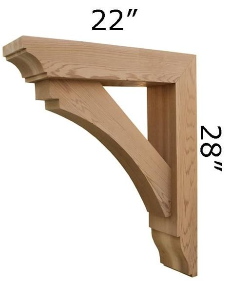 Exterior Wood Corbels by Custom Made Wooden Bracket By Pro Wood Market Custommade