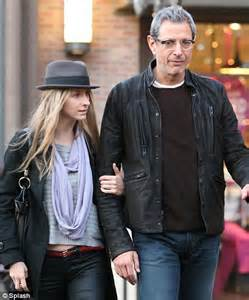 Jeff Goldblum shops up a storm with a young mystery woman