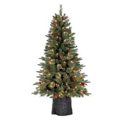 shop holiday living 4 5 ft 485 count pre lit hayden pine artificial christmas tree with constant