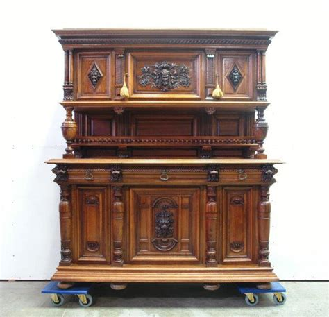 Large Buffet Cabinet by 5508002 Large Antique Carved Renaissance Buffet
