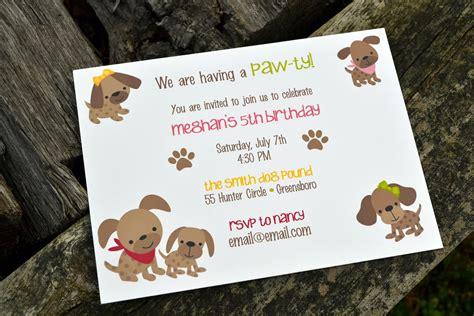 dog themed birthday party invitations dolanpedia