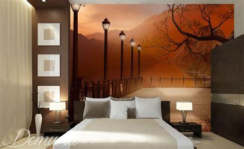 chambre do chambre à coucher avec vue papier peint pour le chambres