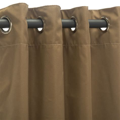 canvas cocoa grommet sunbrella outdoor curtains