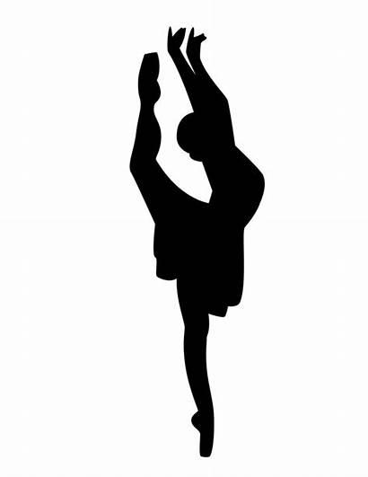 Ballet Silhouette Dancer Clipart Attitude Dance Arabesque