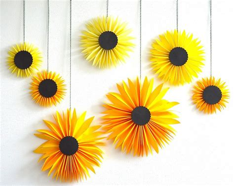 Paper Sunflowers Via Be Color And