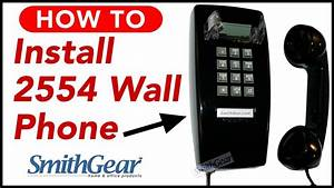 Modular Phones Cortelco 2554 Red Corded Wall Phone Installation From