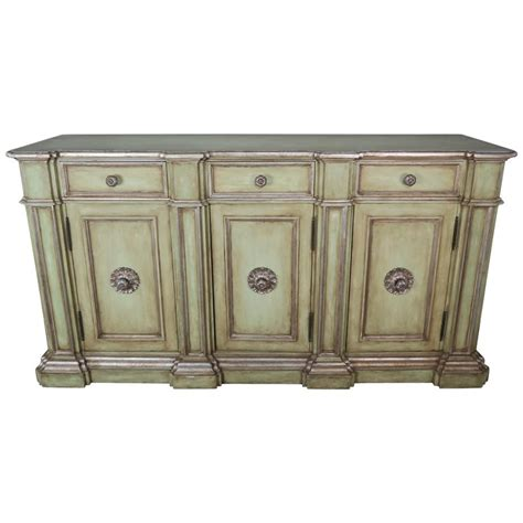 Painted Credenza - italian painted neoclassical style painted and credenza