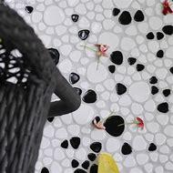 Black and White Pebble Tile