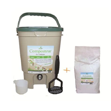 composteur de cuisine et activateur ecovi acheter sur