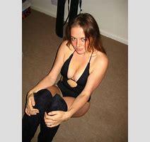 Sexy Black Monokini Holding In Big Tits Busty Uk Wife