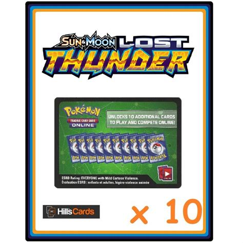 Maybe you would like to learn more about one of these? Pokemon Trading Card Game 10x Sun & Moon Lost Thunder ...