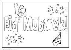 eid printable eid mubarak card  colour