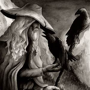 The God Odin Wandering Woman Wondering