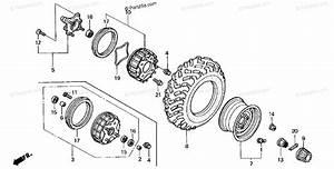 Honda Atv 2002 Oem Parts Diagram For Front Wheel