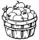 Coloring Barrel Apples Printable Pages Clipart Apple sketch template