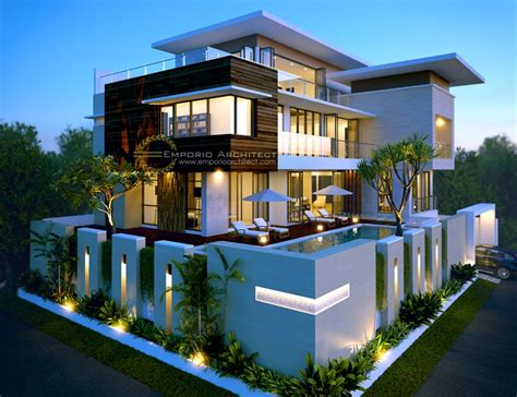 desain rumah modern tropis   unsur kaca jasa